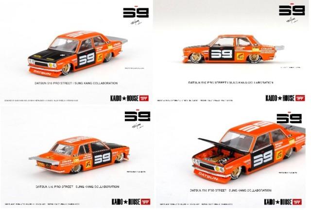 予約 KHMG004 TSM MINI-GT KAIDO HOUSE 1/64 日産 ダットサン 510 プロストリート SK510 オレンジ (左ハンドル)
