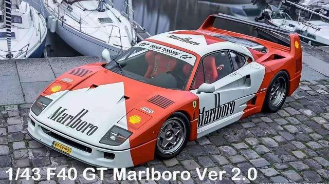 予約  SCM 1/43 フェラーリ Ferrari F40 GT マルボロ Marlboro 2.0