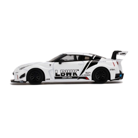 予約 TSM MINI-GT 1/64 日産 LBWK限定 LB-Silhouette WORKS GT NISSAN 35GT-RR Ver.1 White LBWK シルエットワークス