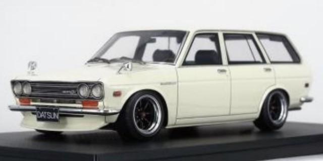 予約IG2220 イグニッションモデル 1/18  Datsun Bluebird (510) Wagon  White