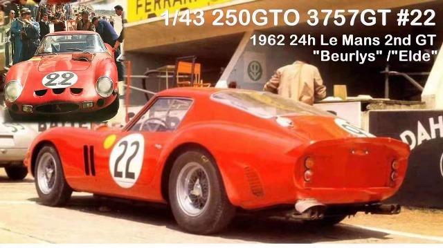 予約  SCM 1/43 フェラーリ Ferrari 250GTO 3757GT 2nd Le mans 24h 1962 Red #22 限定40個