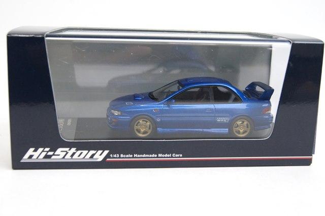 新品HS134BL ハイストーリー 1/43 スバル インプレッサ WRX typeR STI VersionV (1998) ソニックブルー・マイカ