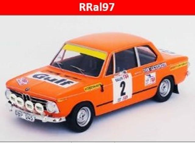 予約RRal97 トロフュー 1/43 BMW 2002 ti  1972 TAPラリー #2 L.Asterhag C.Bilstam