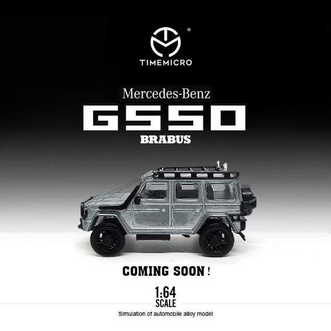 予約  TM Time Micro 1/64 メルセデス ベンツ ブラバス Benz Brabus G550 メタル色
