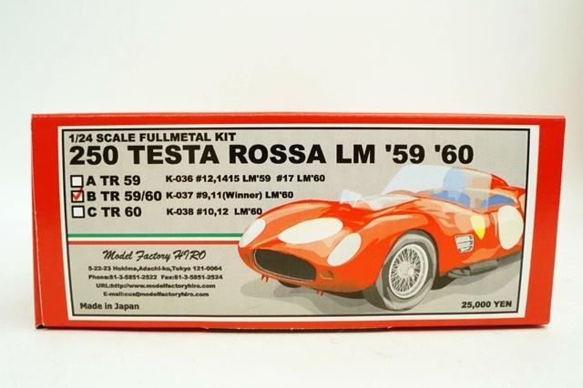 新品K-037 HIRO 1/24 フェラーリ 250 テスタロッサ LM 1960 #9/#11