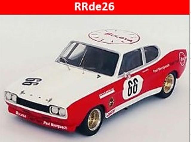 予約RRde26 トロフュー 1/43 フォード カプリ 2600 RS 1972 ニュルブルクリンク500km #66 B.Waldegaard