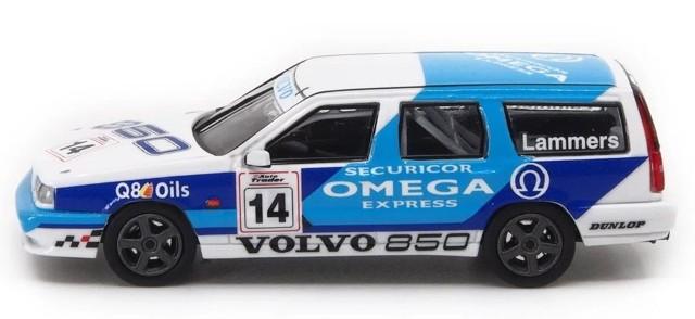 新品 POP RACE 1/64 ボルボ 850 T-5R エステート イギリスツーリングカー選手権1994 #14