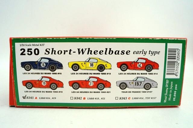 新品K041 HIRO 1/24 フェラーリ 250 Short-Wheelbase early type LM 1960 #16/#19