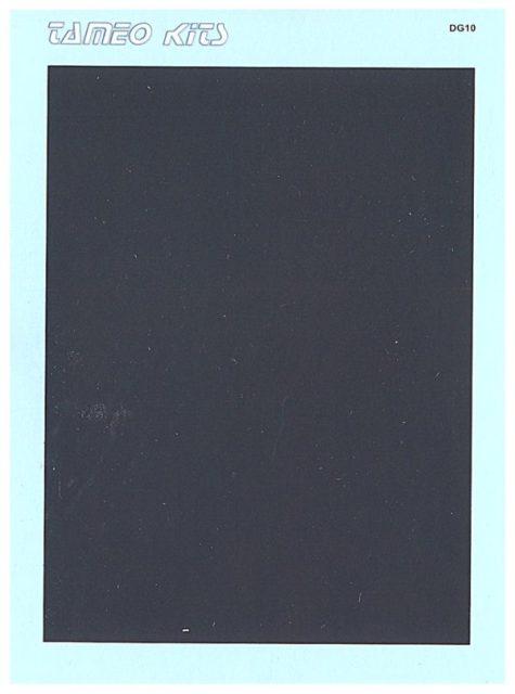 取寄せDG10 タメオキット   デカール Matt black mm 103×87   1 piece