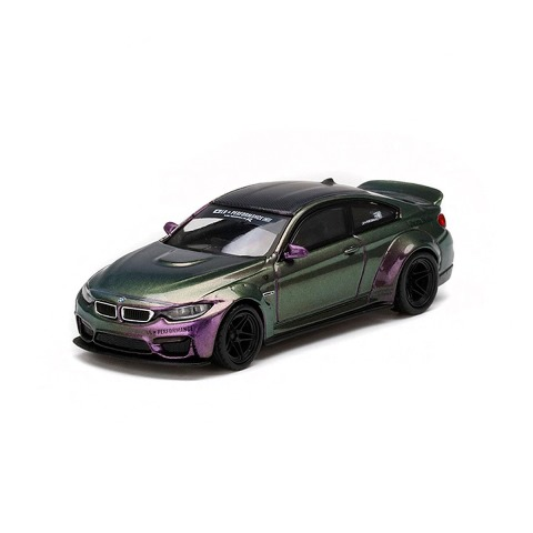 予約 MINI-GT LBWK限定 1/64 BMW LB★WORKS M4 Purple-Green Metallic