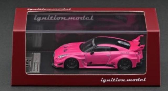 新品 IG2382 イグニッションモデル 1/64 日産 LBWK Silhouette WORKS GT Nissan 35GT-RR Pink