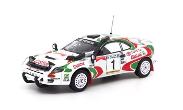 新品 POP RACE 1/64 トヨタ セリカ GT-FOUR ST185 サファリラリー 1993 優勝車 #1 Juha Kankkunen Juha Piironen