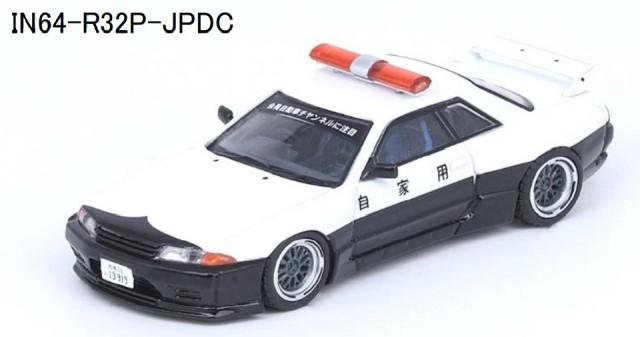 """新品IN64-R32P-JPDC INNO イノモデル 1/64  スカイライン GT-R (R32) """"PANDEM ROCKET BUNNY""""Japan Police Livery Drift Car"""