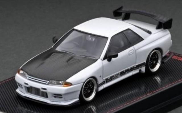 予約 IG2395 イグニッションモデル 1/64  TOP SECRET GT-R (VR32) Matte Pearl White