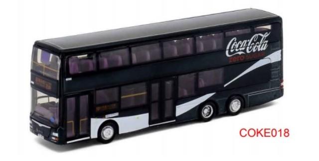 新品COKE018 タイニーCity   A95 Coca-Cola バス ブラック