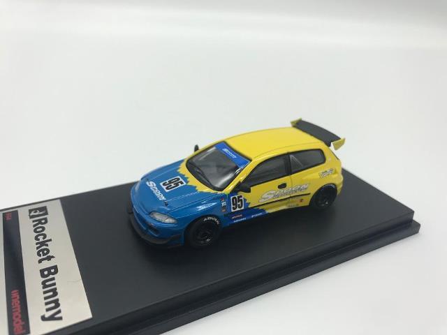 予約 21A06-30 onemodel 1/64 ホンダ Cvic EG6 Rocket Bunny Spoon Racing