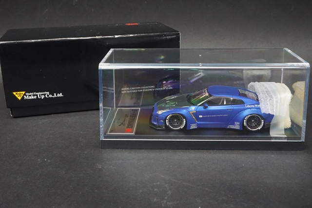 1/43 LBWK限定 LB007SHS SP メイクアップ/アイドロン 日産 LB★WORKS GT-R Type 1.5 Matt Candy Blue