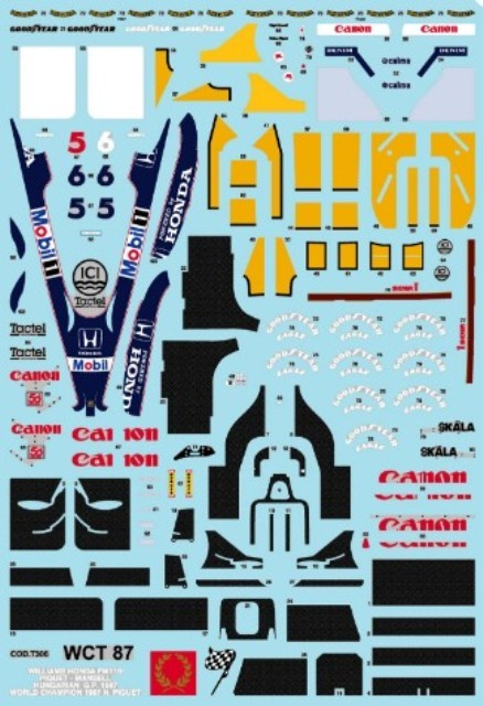 取寄せTMK438 タメオキット 1/43 ホンダ WILLIAMS FW11B イングランドGP 1987 Super Kit