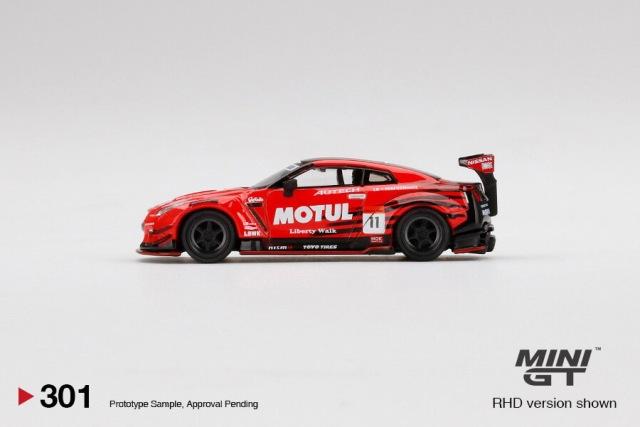予約 TSM MINI-GT LBWK限定 1/64 LB-WORKS 日産 GT-R R35 Type2 MOTUL #11 ブリスターパック仕様