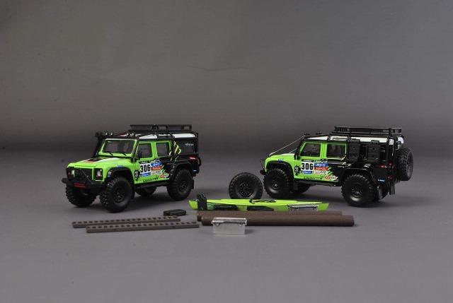予約  Master 1/64 ランドローバー ディフェンダー Land Rover Defender 110 Monster #306 カーキャリア&アクセサリー付