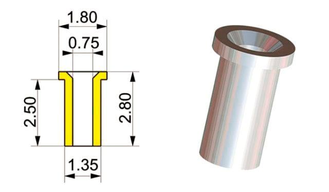 取寄せPG04 タメオキット   Inlet trumpet mm. 0,5 10 pieces