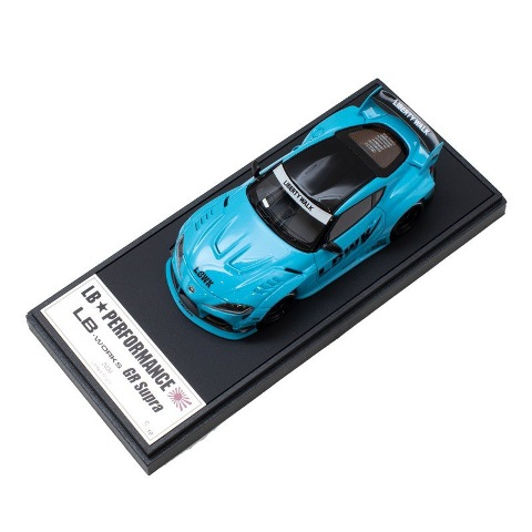 新品 LBWK限定 LB013BSP メイクアップ/アイドロン 1/43 LBWK LB-WORKS トヨタ GR Supra Light Blue Pearl
