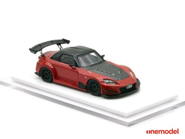 予約 20F01-03 onemodel 1/64 ホンダ S2000 J's Racing Red