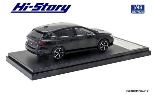取寄せ HS330BK ハイストーリー 1/43 スバル SUBARU LEVORG GT-H (2020) クリスタルブラック・シリカ