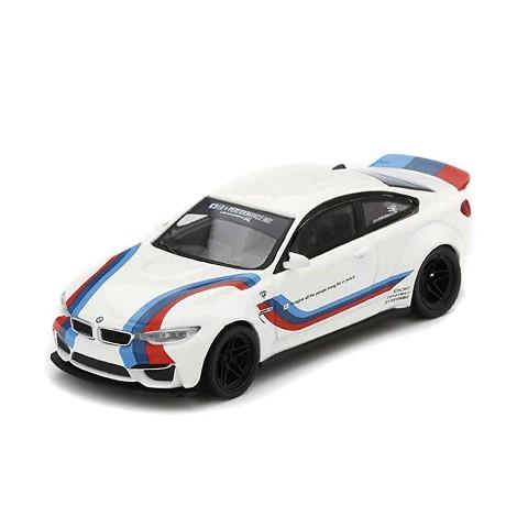 新品 LBWK限定 TSM MINI-GT 1/64 BMW LB-WORKS M4 ホワイト Mカラー