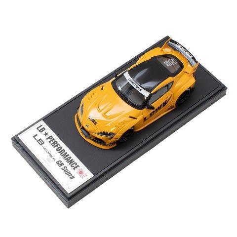 新品 LBWK限定 LB013CSP メイクアップ/アイドロン 1/43 LBWK LB-WORKS トヨタ GR Supra Lighting Yellow