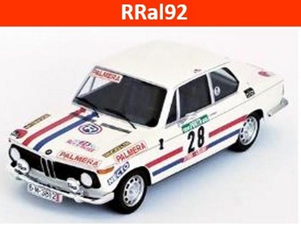 予約RRal92 トロフュー 1/43 BMW 2002 1975 ラリー・ポルトガル 15位  #28 Etchebers
