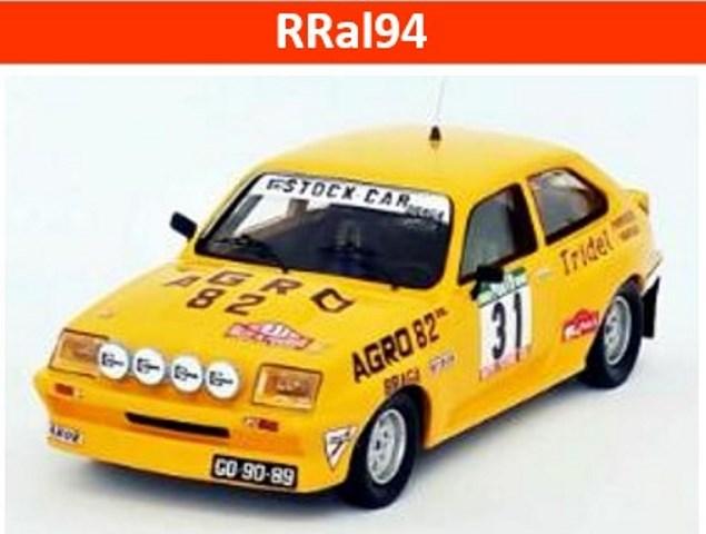 予約RRal94 トロフュー 1/43 ボクスホール シェベット HSR 1982 ラリー・ポルトガル #31 R. Lages/A. Santos