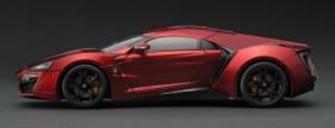 新品TK-KF00101 KENGFai 1/18 W MOTORS Lykan Hypersport Metallic red