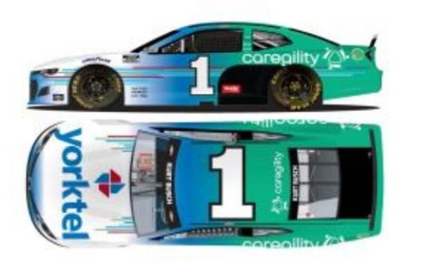 予約 CX12165CRGUB ライオネルレーシング 1/64 シボレー カマロ NASCAR 2021 カート・ブッシュ #1 Caregility/Yorktel