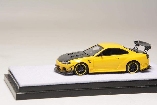 新品 404 Error 1/64 日産 シルビア Nissan S15 Silvia イエロー