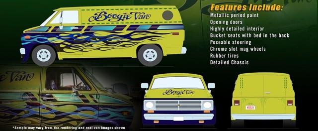 予約 A1802101 ACME 1/18 シボレー 1976 G-Series Van - Boogie Van