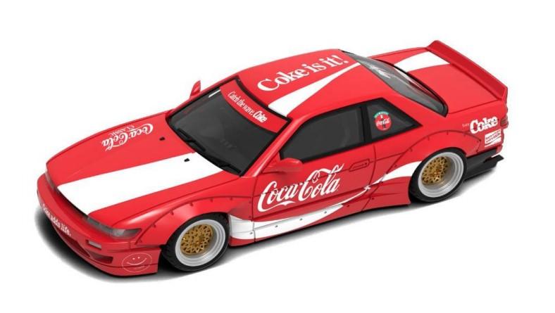 新品 COKE037 INNO イノモデル 1/64 日産 シルビア S13 ROCKET BUNNY V2 Coca-Cola (香港限定)