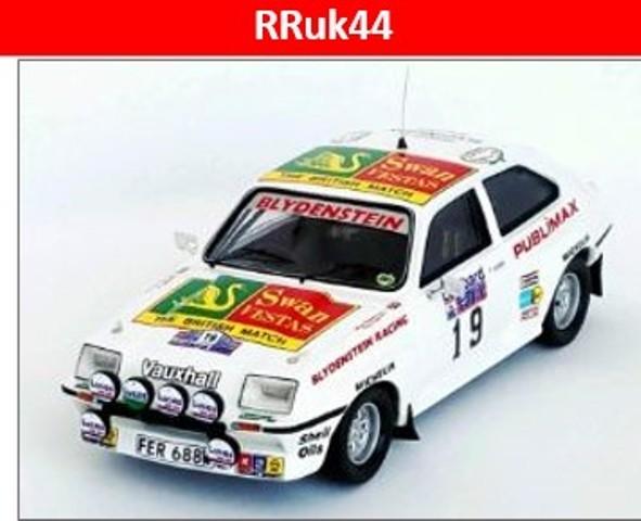 予約RRuk44 トロフュー 1/43 ボクスホール シェベット HSR 1982 RACラリー  #19 Terry Kaby/Mike Nicholson