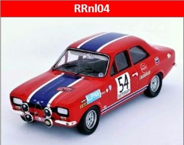 予約RRnl04 トロフュー 1/43 フォード エスコート  Mk1 1969 Tulip Rally  1位 #54 Gilbert Staepelaere/Andre Aerts
