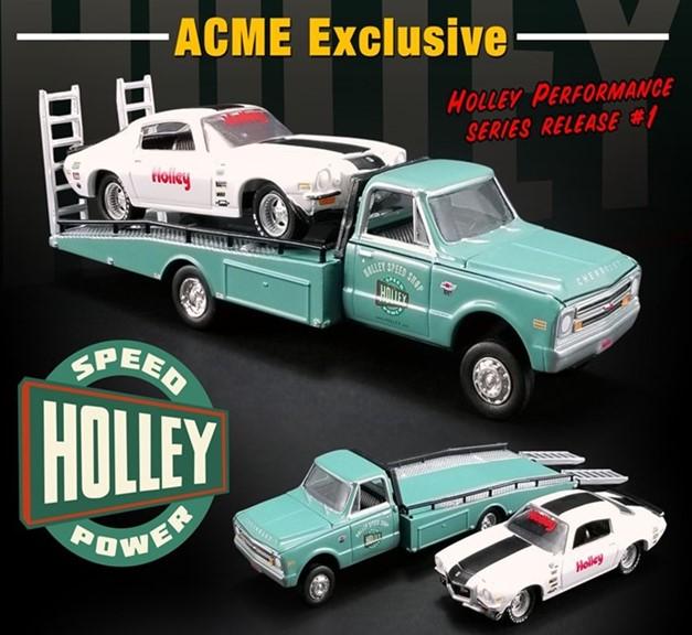 新品GL-51247 ACME 1/64 シボレー Holley Performance Chevrolet Ramp Truck with 1971 Camaro