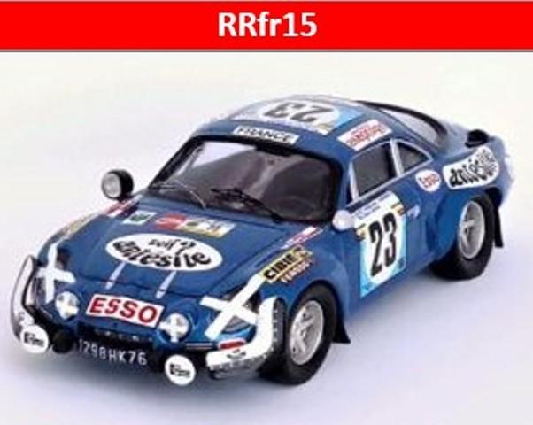 予約RRfr15 トロフュー 1/43 アルピーヌ ルノー A110 1975 サファリラリー 13位 #23 Bob Neyret/Jacques Terramorsi