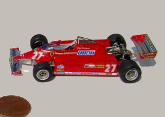 取寄せ64T002 タメオキット 1/64 フェラーリ 126 CK Monaco G.P. 1981 組立キット