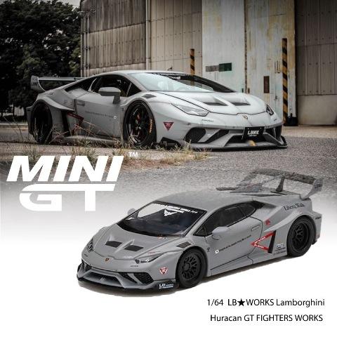 予約  MINI-GT LBWK限定 1/64 ランボルギーニ LB★WORKS ウラカン GT FIGHTERS WORKS 戦闘機カラー 左ハンドル
