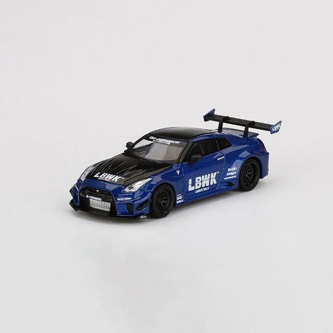 予約  TSM MINI-GT 1/64 日産 LBWK限定 LB-Silhouette WORKS GT NISSAN 35GT-RR Ver.2 LBWK Blue 右ハンドル ブリスターパック仕様