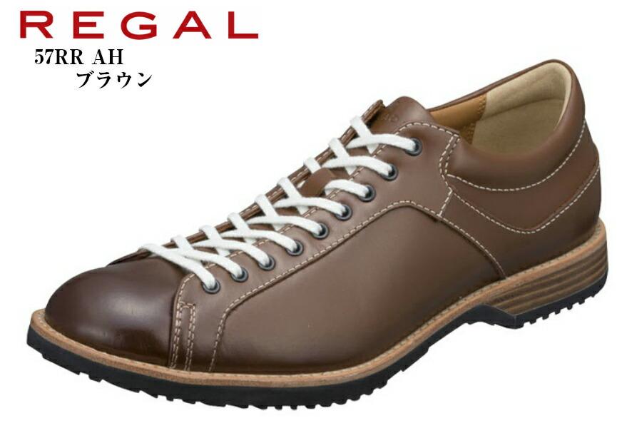 (リーガル)57RR AH REGAL 本革 タウンカジュアルシューズ 日本製 生地色のコバ、細い紐が60年代のシューズを彷彿 軽量で、屈曲性にも優れたアウトソール メンズ