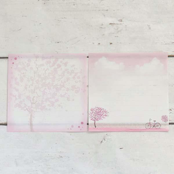 便箋 桜と自転車|pd-525