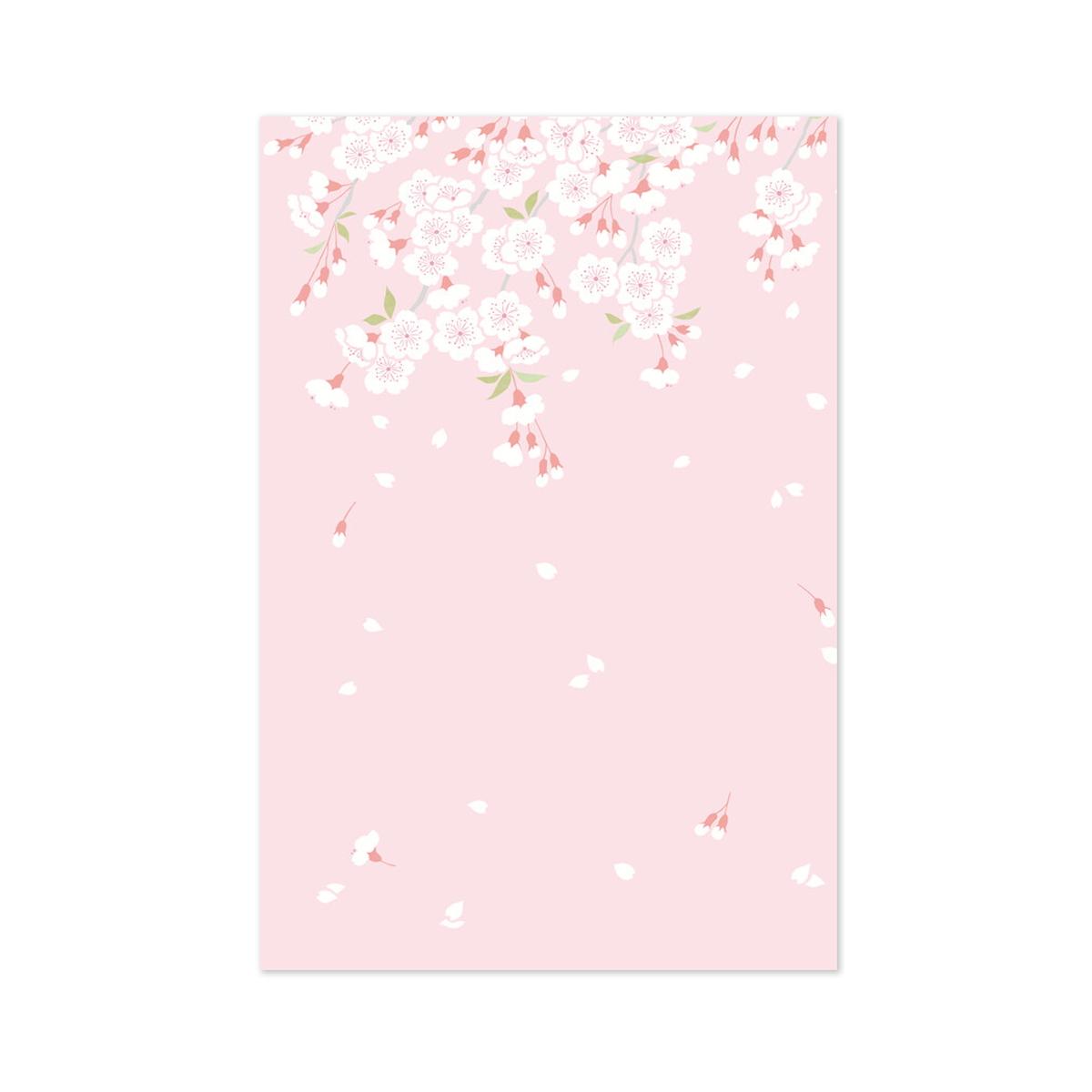 はがき箋 さくら日和|hgs-390
