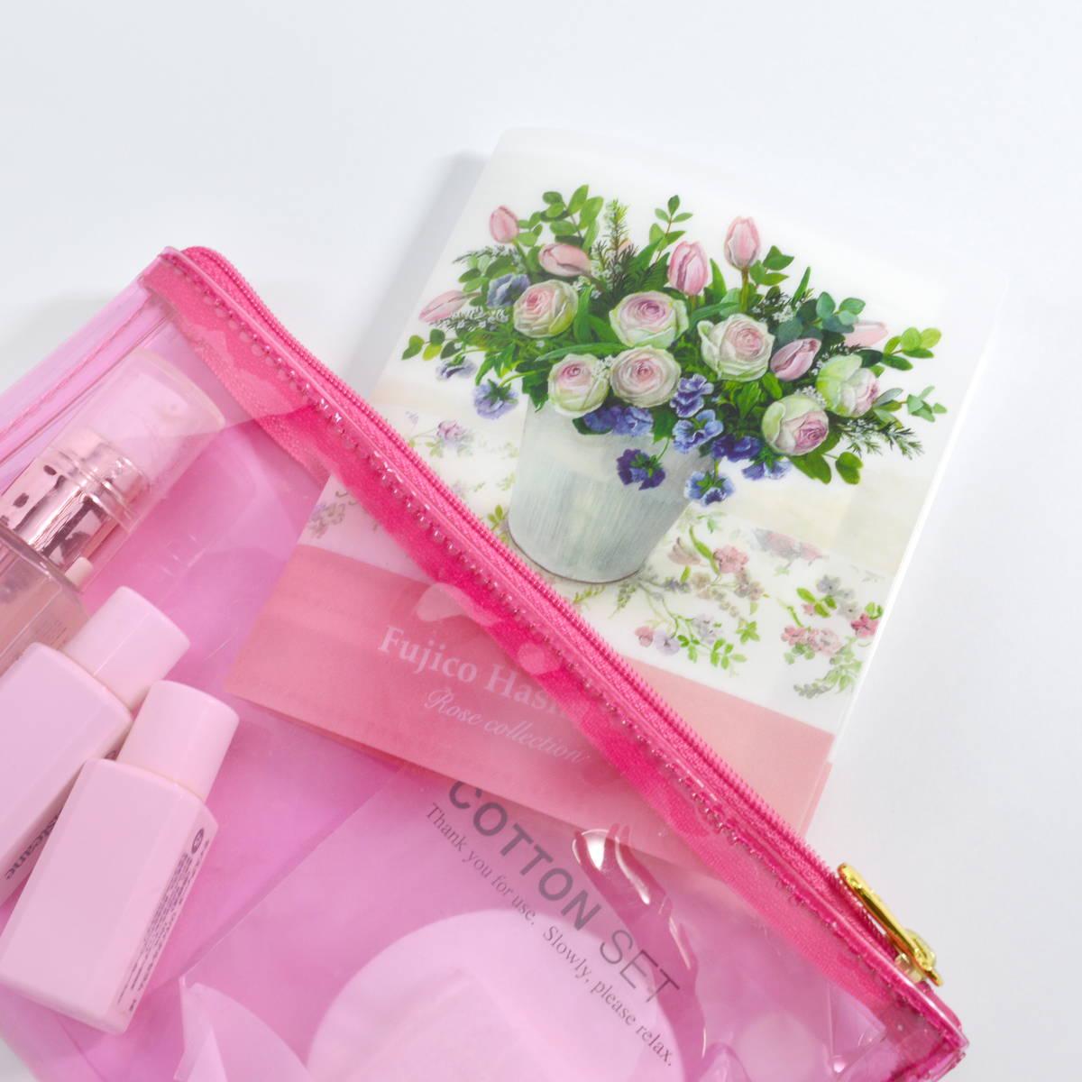 抗菌マスクケース ポケットサイズ 橋本不二子ローズ|cf-108