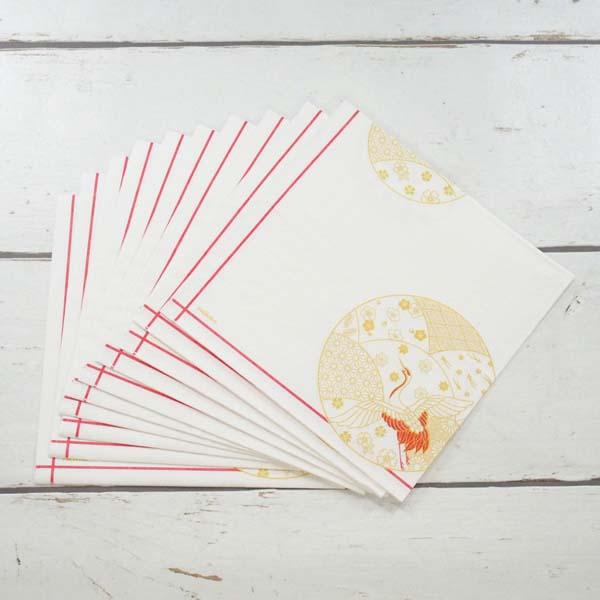 ペーパーナプキン お祝い鶴|pnk-022