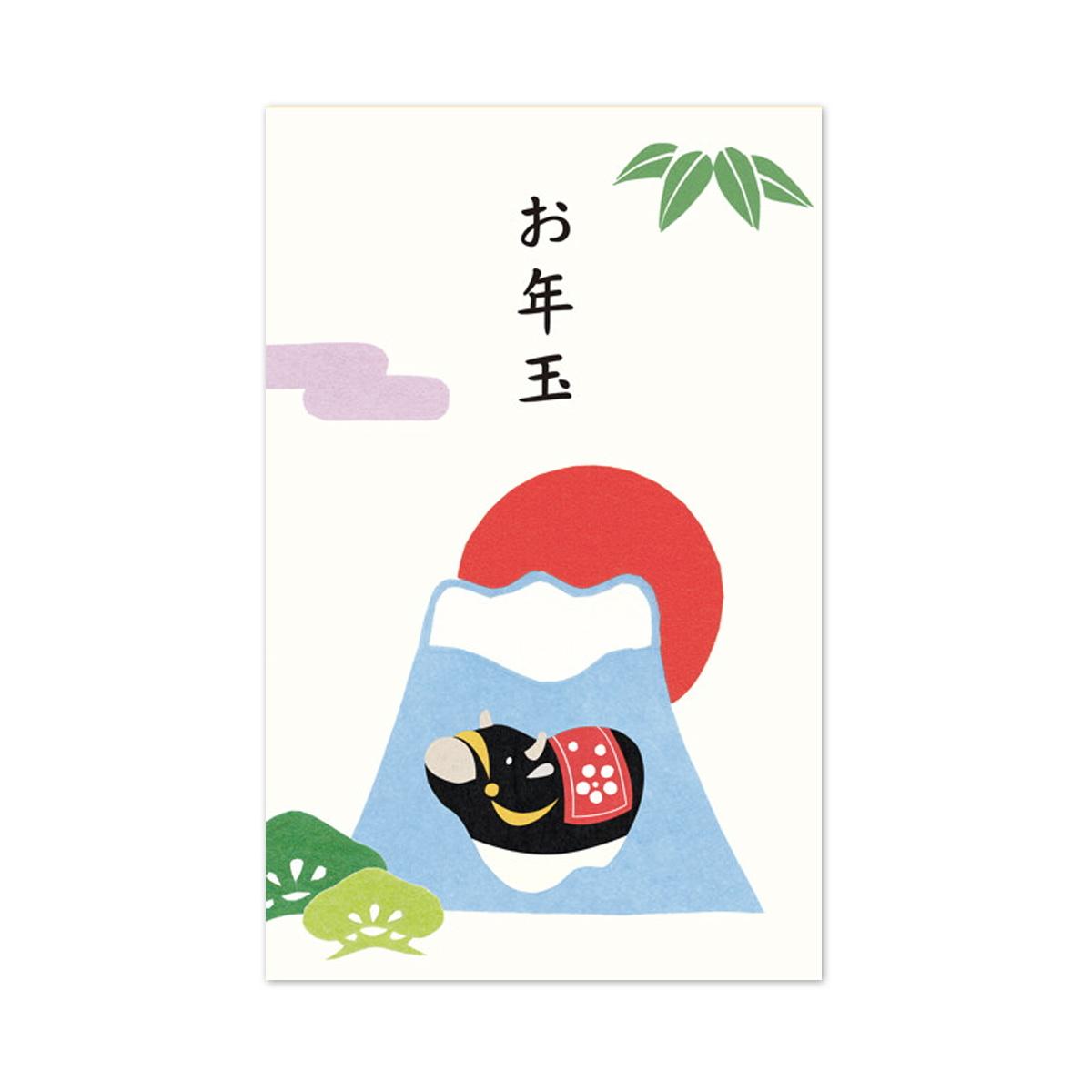 ポチ袋 富士山と松竹梅 pch-209